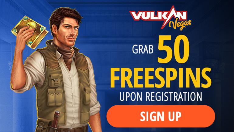 Grab 50 free spins upon registration