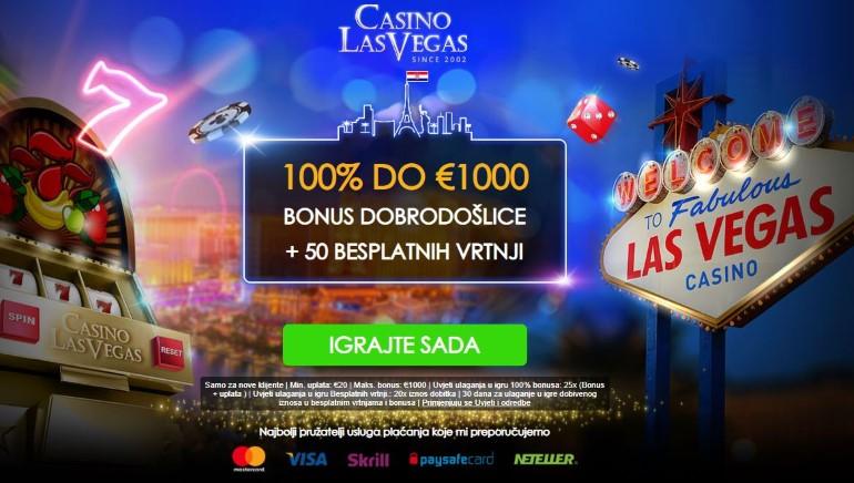 Pridružite se Casino Las Vegas i zatražite značajan bonus dobrodošlice sa besplatnim spinovima