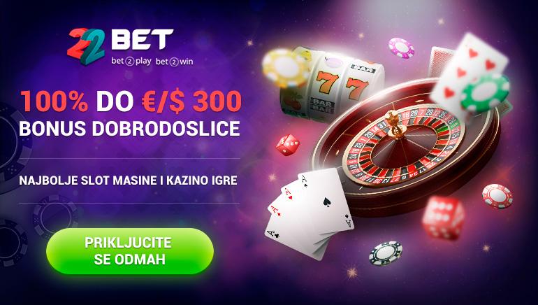 100% do €/$300 bonus dobrodoslice najbolje slot masine i kazino igre