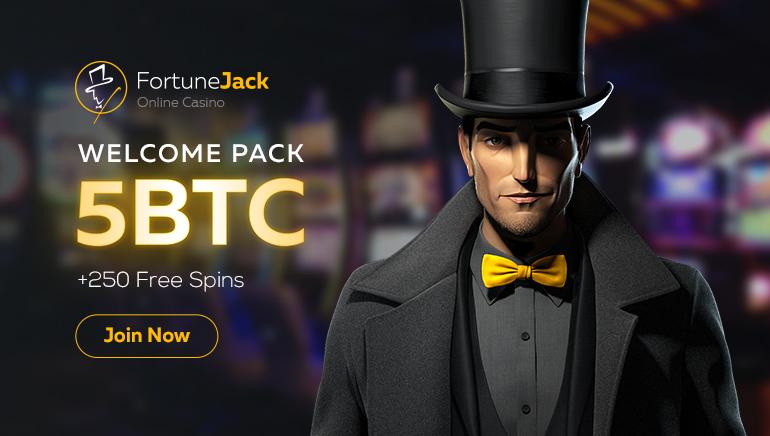 Preuzmite 5 BTC i 250 besplatnih spinova u FortuneJack Casino