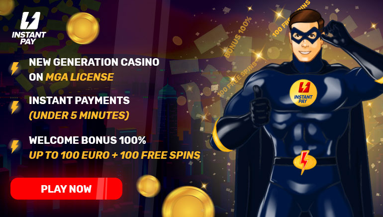 Welcome bonus 100% up to 100 € + 100 free spins