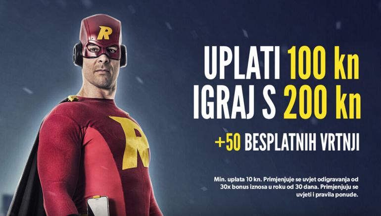 Rizk Casino hrvatskim igračima sada nudi bonus od 1,000 kn i 50 besplatnih spinova