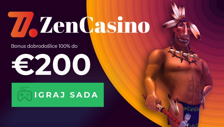 Započnite Zen Casino avanturu sa bonusom dobrodošlice od 100% do €200